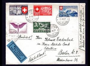 Schweiz, Ausland-Brief nach Berlin