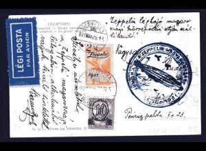 Zeppelinkarte, Ungarn Sieger 102 Ba