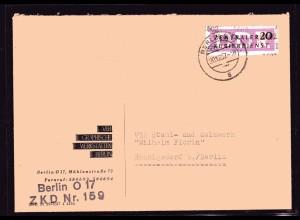 ZKD-Brief EF. Mi.-Nr. 15, 1602