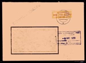 ZKD-Brief EF. Mi.-Nr. 17 C
