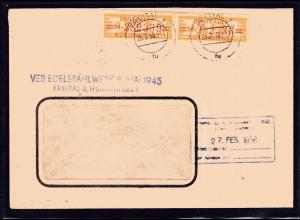 ZKD-Brief MeF. Mi.-Nr. 17 M