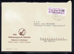 ZKD-Brief EF. Mi.-Nr. 15, 1313
