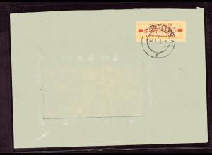 ZKD-Brief EF. Mi.-Nr. 18 II M, sign. Weigelt.