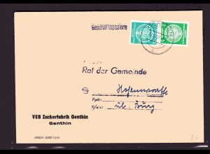 ZKD-Brief mit MiF. Mi.-Nr. 1 und 2 Ausgabe als Fernbrief.