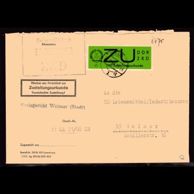 ZKD-Brief mit EF. Mi.-Nr. 2 X