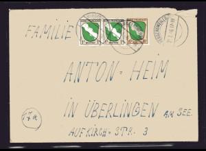 Fr.-Zone, All.-Ausgabe, Fern-Brief mit Mi.-Nr. 5 ua.