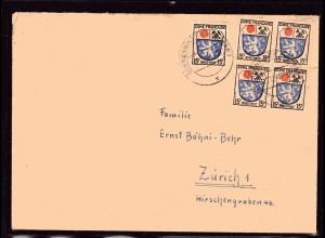 Fr.-Zone, All.-Ausgabe, Ausland-Brief mit MeF. Mi.-Nr. 7