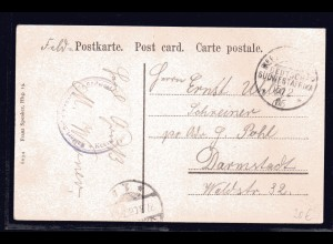 DSWA, Feld-Postkarte nach Darmstadt.