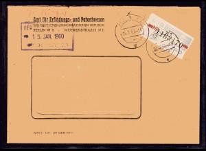 ZKD-Brief EF. Mi.-Nr. 28 HP